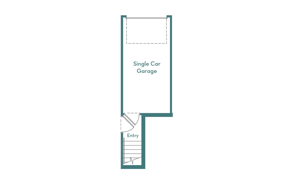 C3 - 2 bedroom floorplan layout with 2.5 baths and 1007 square feet. (garage)