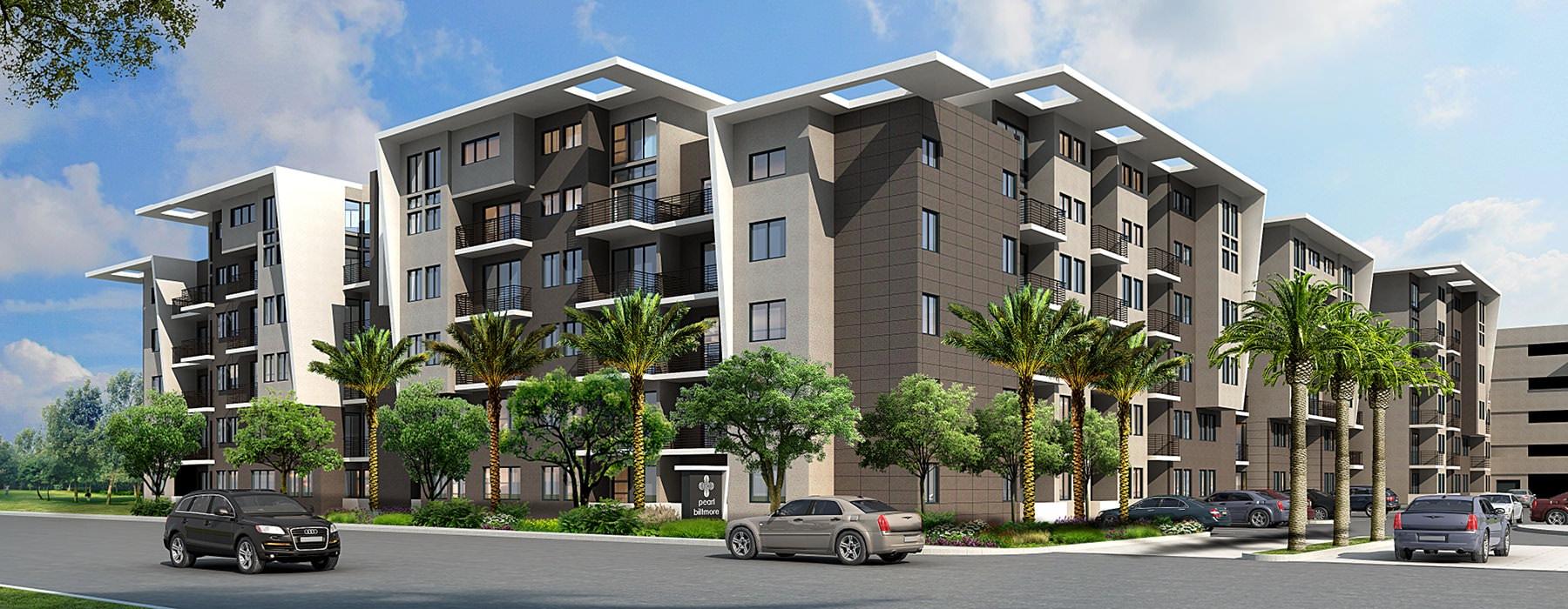 exterior rendering of Pearl Biltmore
