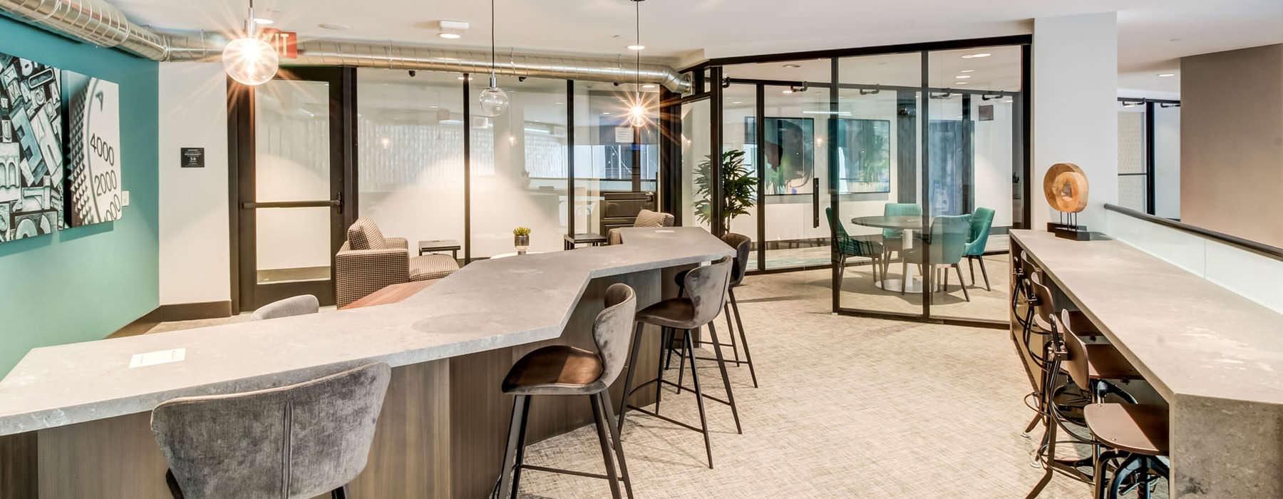 spacious clubhouse kitchen