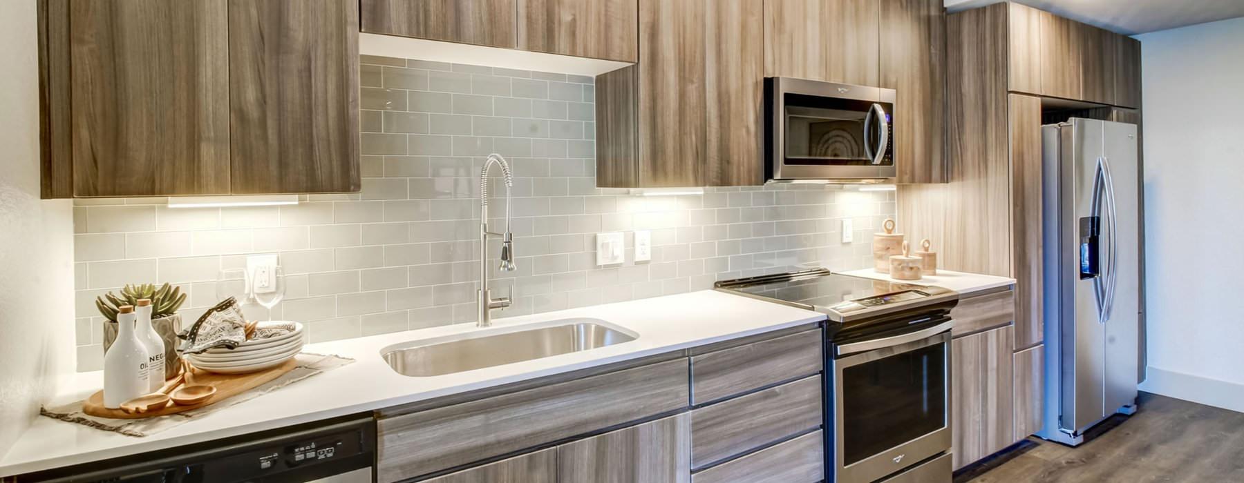 open, bright kitchen